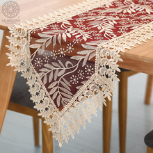 Morigins 2018 Table Runner Modern Fashion Lace Floral Cloth Decoration Home Textile Hollow Embroidered N210