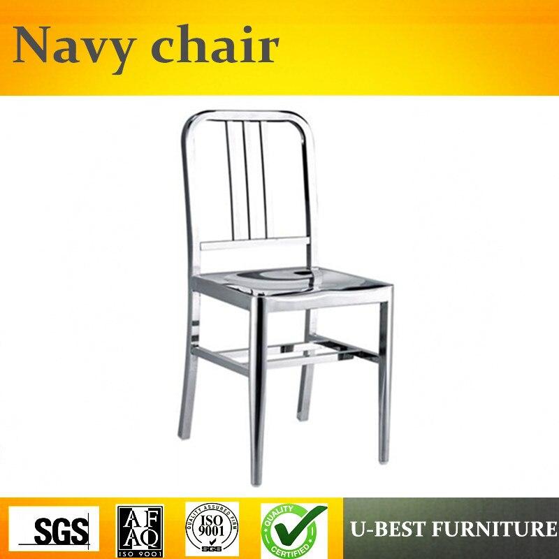 Free Shipping U-BEST Triumph Navi Stainless Steel Regular Model Chair / Metal Kitchen Side Chair