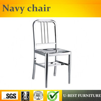 Free shipping U BEST Triumph Navi stainless steel regular model chair / Metal kitchen side chair