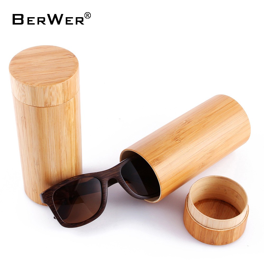 BerWer 2019 New Bamboo 선글라스 Men 나무 일 Glasses Women Designer Mirror Original Wood Glasses