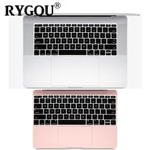 Cubierta de teclado de silicona en inglés para MacBook Pro 13 pulgadas sin barra táctil liberación 2016 + y para MacBook 12 pulgadas A1534 A1931 película de piel