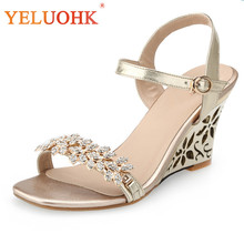 33-43 High Heel Sandals Women Big Size Wedges Sandals Female 2018 Summer  Shoes Women Sandals High Quality fcde5857a21e