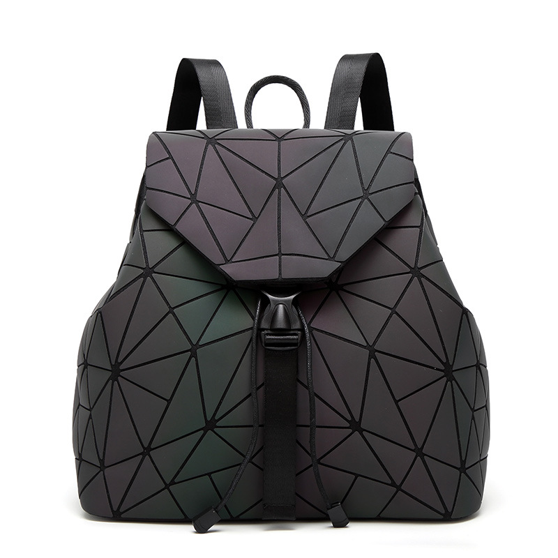 Women Backpack Geometric Plaid Sequin back pack Female Backpacks For Teenage Girls Bagpack Drawstring Bag Holographic Backpack ipinee women backpack feminine geometric plaid denim female backpacks for teenage girls bagpack drawstring bag holographic