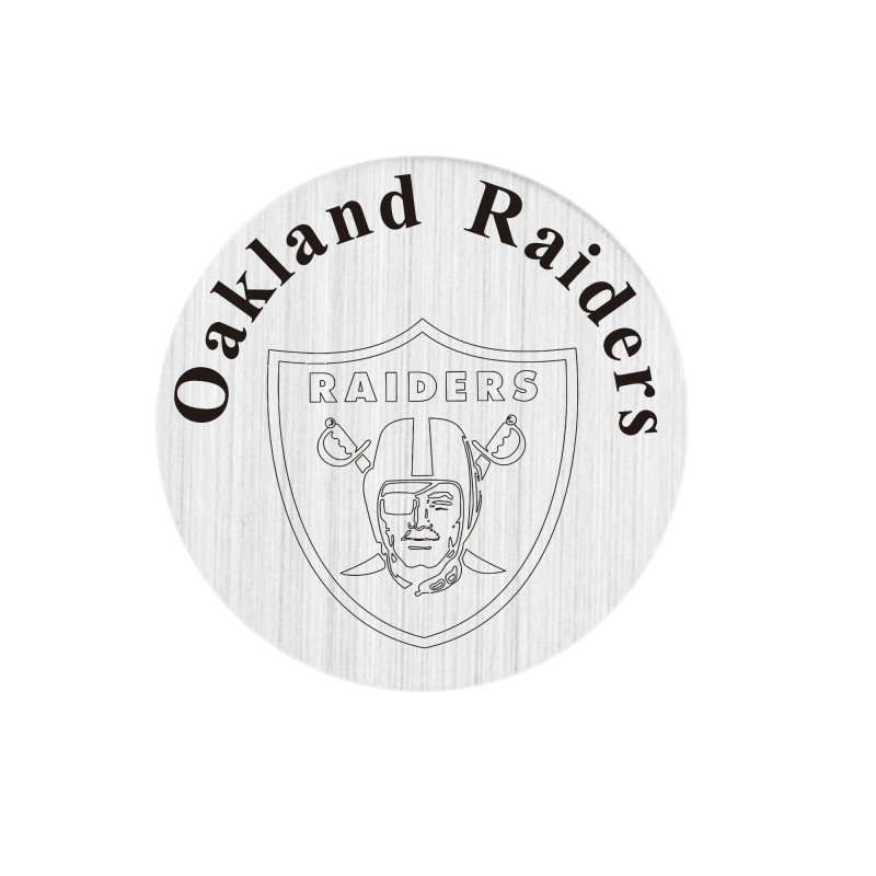 20 Pcs 316L Stainless Steel Plate Oakland Raiders Locket Plate Fit For 30mm Living Floating Glass Memory Locket