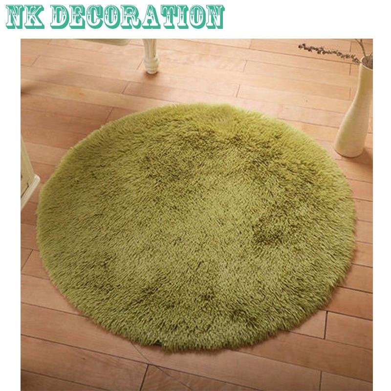 40/80 / 100cm lanuginoso tappeto rotondo in schiuma antiscivolo - Tessili per la casa
