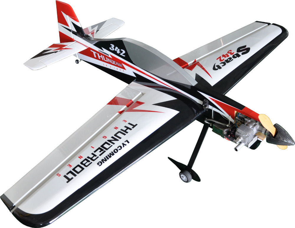 buy 3d aerobatic flight model rc airplane electric 6ch arf sbach 342 55. Black Bedroom Furniture Sets. Home Design Ideas