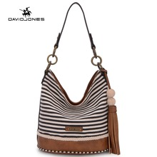 DAVIDJONES ladies Handbag Bucket bag women Pu String Shoulder bag Luxury Bags Famous Designer fashion Top-handed bag Sale-Seller