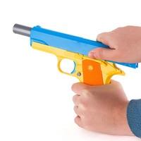 Classic Children Toy Gun Set 16pcs m1911 Analog Soft gun Policeman hand gun handcuffs Kit Toys for children