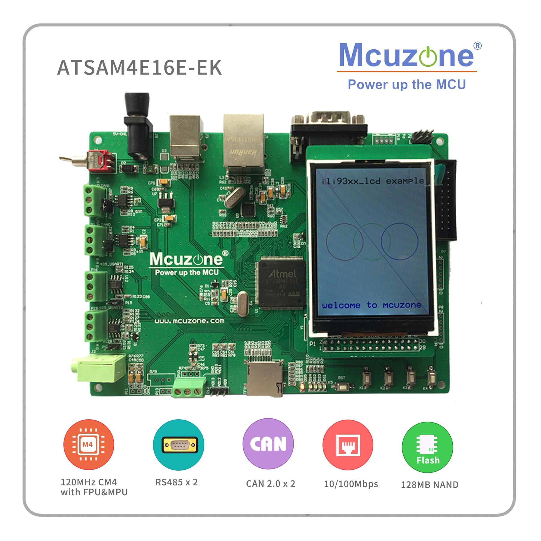 ATSAM4E16E-EK ATSAM4 Evaluation Kit,120MHz Cortex-M4,Ethernet,USB,UART,CAN,485,TF,NAND,RTC,2.8