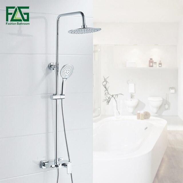 Flg Luxury Single Handle Brass 3 Functions Waterfall Rain Shower
