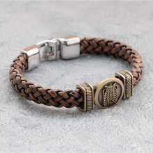 Attack on Titan Wings of Freedom Personalized Charm Bracelets For Women Men Jewelry