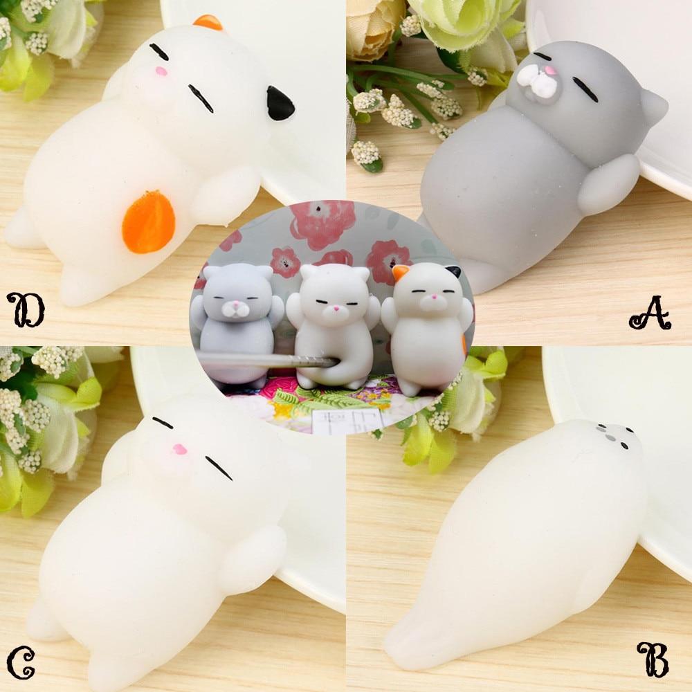 Squishy Cat Desk Toy : Mini Squishy toy Cute cat Mochi Squeeze Fun Joke antistress ball Healing Fun Kids Kawaii Toy ...