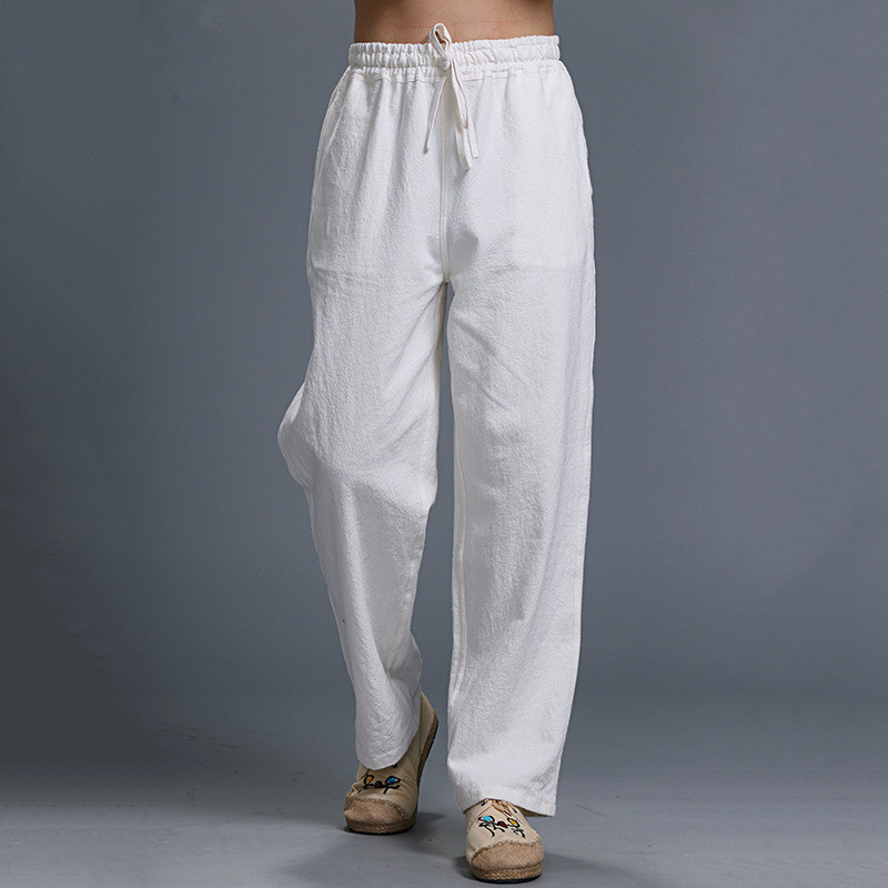 Popular White Linen Drawstring Pants for Men-Buy Cheap White Linen ...