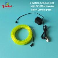DC5V Flexible Neon Light Glow 3.2mm 5 M EL Fil Corde bande Câble Bande Neon Light Avec Jouets/artisanat Décoration Des Vêtements De Mariage