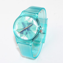 New Fashion Famous Brand Ice cubes Pattern Design Women Dress Waterproof Watch