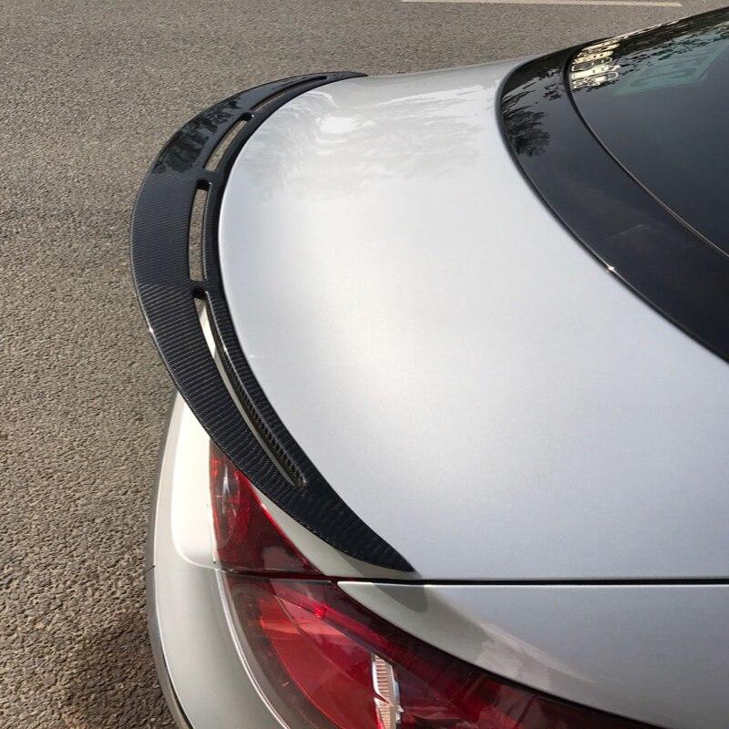 Для Volkswagen VW CC спойлер 2010 2011 2012 2013 2014 2015 2016 автомобилей Хвост крыло украшения Черный углеродного волокна сзади спойлер багажника