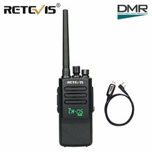 10W DMR Digital Walkie Talkie Retevis RT50 IP67 Waterproof Dustproof UHF VOX Portable Two-Way Radio Hf Transceiver+Program Cable