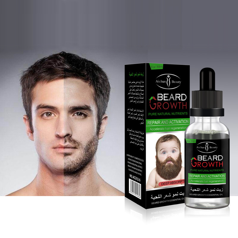 1pc Natural Healthy Men's Beard Body Hair Growth Solution Gentle Maintenance Hair Growth Oil Liquid Beard Growth Essence TSLM2