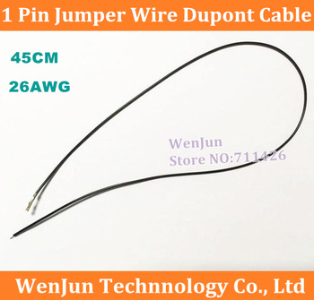 (500PCS/PACK)--- 1 Pin 1PIN Jumper Wire Dupont Cable 2.54mm spacing 45cm length 1P Female 2AWG Wire terminal line