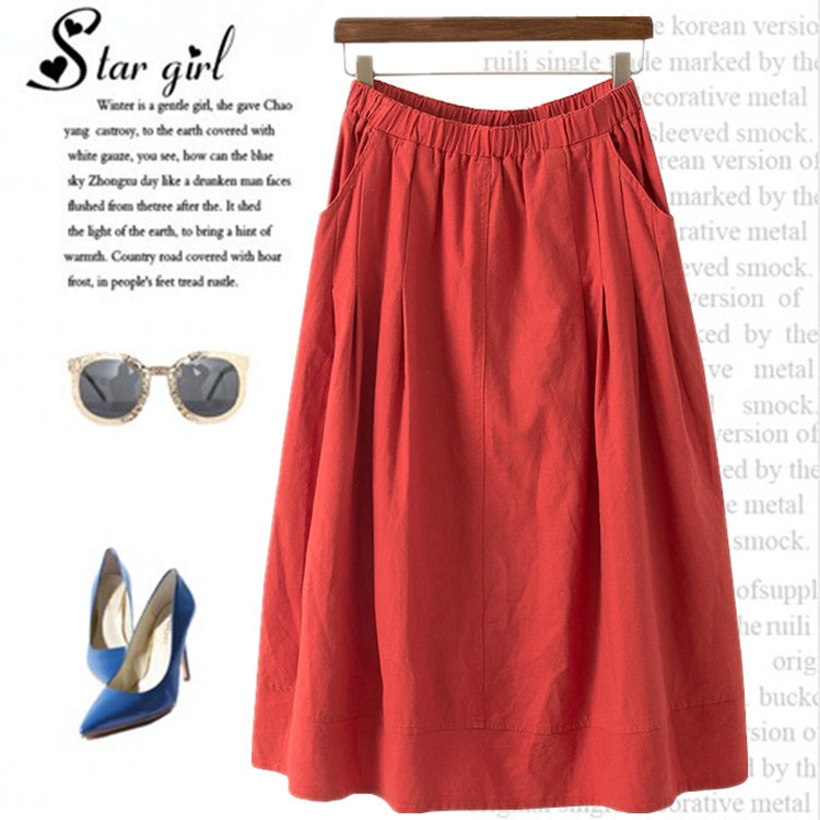 Fitted Midi Skirt - Skirts