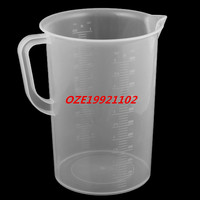 1PCS Lab Kitchen Plastic Water Liquid Graduated Measuring Cup Beaker Clear 5000ml