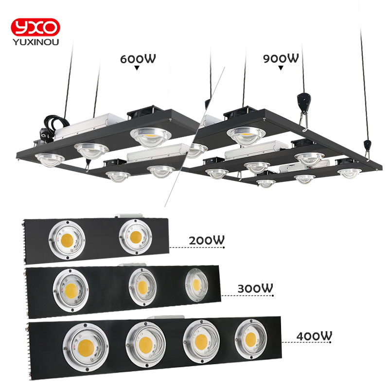 CREE CXB3590 200W 300W 400W 600W 900W W COB LED à intensité variable élèvent la lumière LED à spectre complet LED lampe de croissance