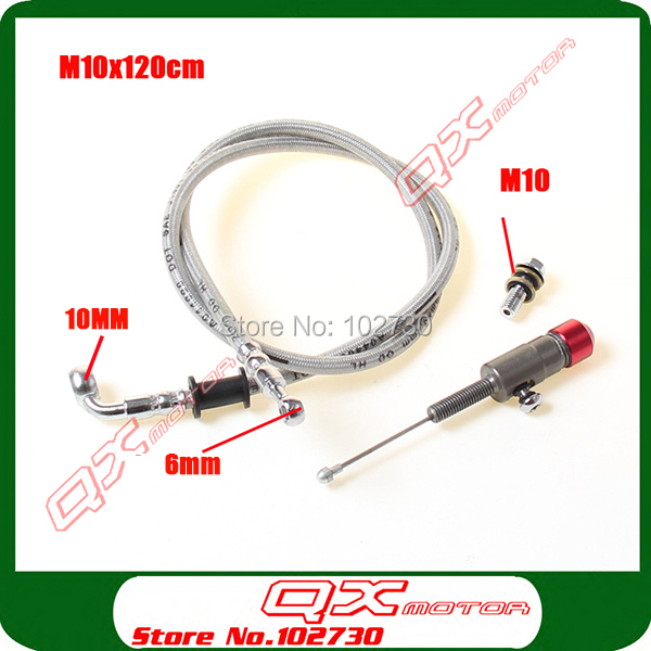 Hydraulic Clutch parts M10x1.2M oil hose and master cylinder pump refitting for Dirt Pit Bike ATV quad Motorcycle use