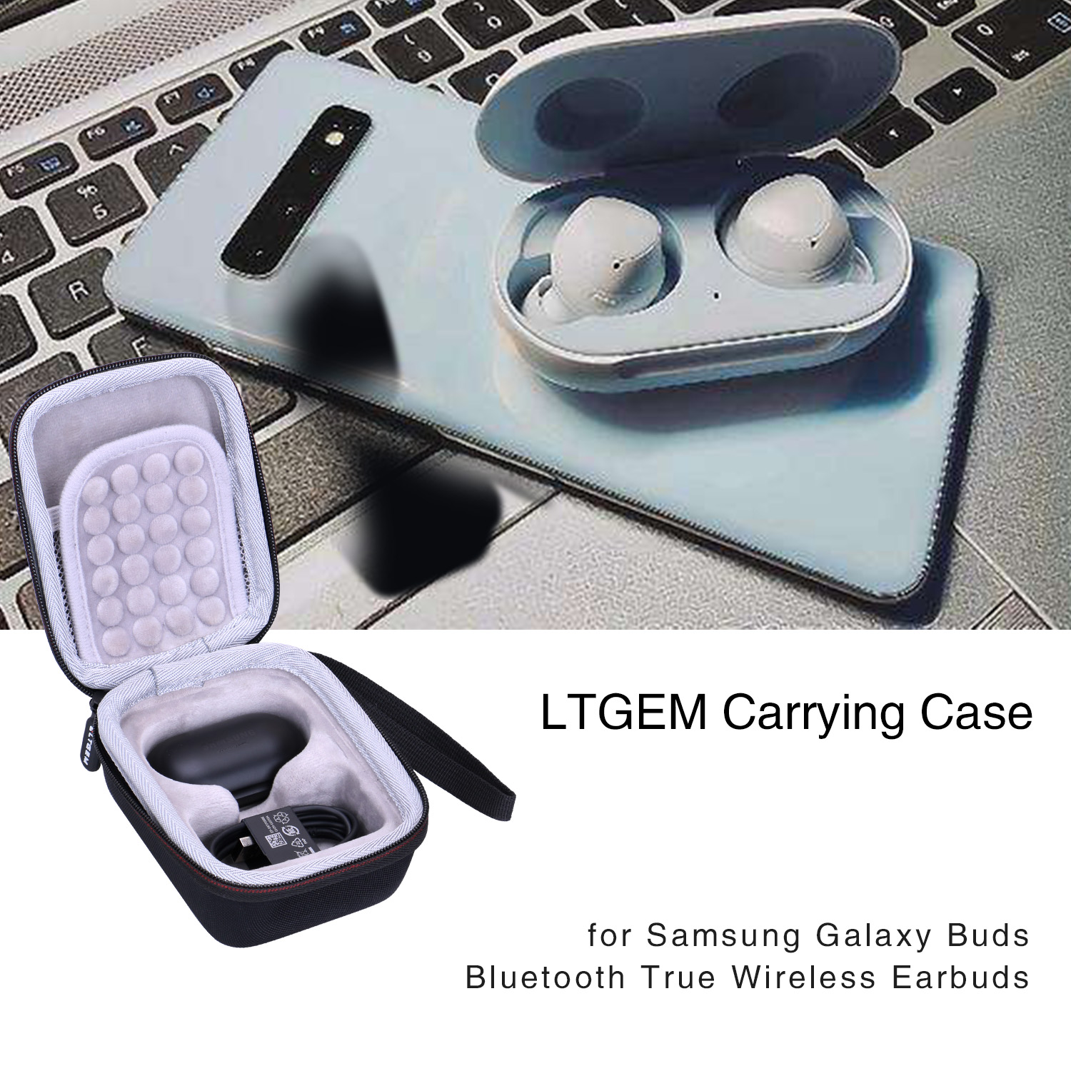 Ltgem Eva Black Carrying Hard Case For Samsung Galaxy Buds Bluetooth True Wireless Earbuds Earphone Accessories Aliexpress