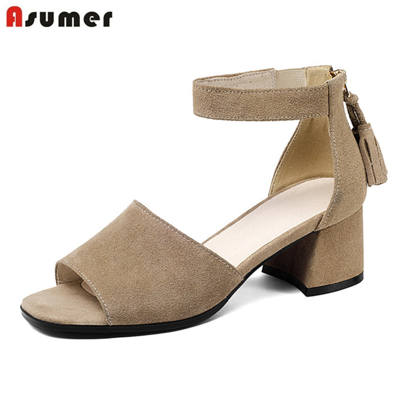 ASUMER 2018 leisure summer women sandals fashion simple hot sale shoes high quality suede leather restoring shoes woman anmairon shallow leisure striped sandals women flats shoes new big size34 43 pu free shipping fashion hot sale platform sandals