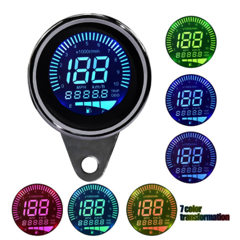 Multicolor Motorcycle Four in One Meter (Speedometer, Odometer, Speed Meter, Oil Meter)