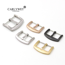 CARLYWET 18 20 22 24mm Wholesale New Men Women 316L Stainless Steel Brushed Matt 3mm Tang Tongue  Pin Buckle For Watch Strap