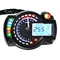 Blue LCD Digital Backlight Motorcycle Speedometer Tachometer Odometer MotorBike Instrument ATV Scooter Dirt bike 9-16V