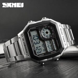 Image 5 - SKMEI Top Luxury Fashion Sport Watch Men 5Bar Waterproof Clock Casual Brand Electronic Mens Watches Digital Wristwatch Male