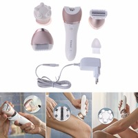 Kemei New Facial Women Epilator Electric Leg Body Face Hair Removal Shave Beauty Tools EU Plug