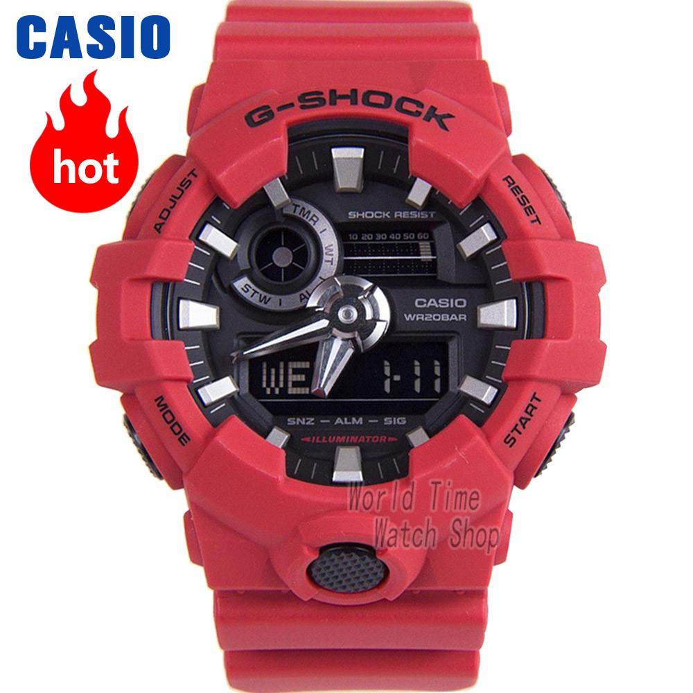 Casio watch G-SHOCK large dial double show sports men's watch GA-700-4A casio watch g shock mini gmn 691g 1jr
