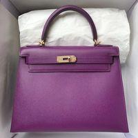 Элитный бренд Для женщин Сумки Одежда высшего качества Классический вензель Курьерские сумки Мода Настоящее кожанные сумочки через плечо
