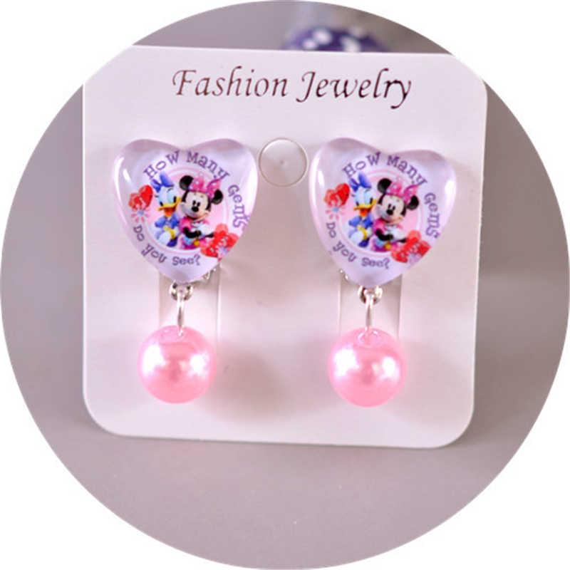 e85143253 ... Disney cartoon children Mickey Mouse earring clip no ear hole girl gift  Frozen Elsa doll cosmetic ...
