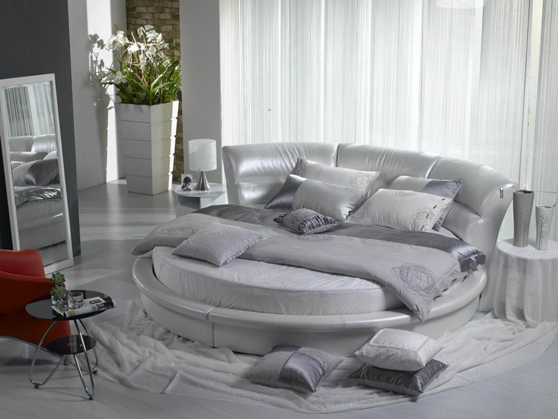 contemporary modern genuine leather round bed bedroom furniture Made in China oliver ramsbotham humanitarian intervention in contemporary conflict