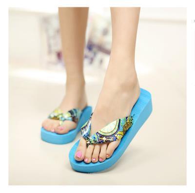 3.28 Anniversary Sale Price New 2017 Wedges Platform Sandals Flip Flops Ultra High Heels Slippers Women's Shoes Platform Shoes P