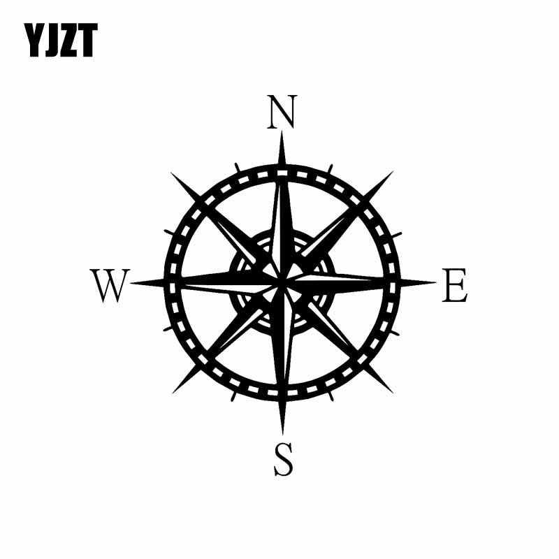 Sailing Compass Star Design Fun Window Bumper Vinyl Decal JDM Sticker 13CMx13CM