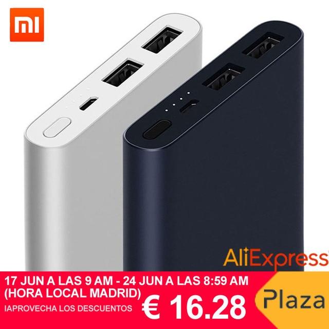 Xiaomi banco de energía 2, 10000mAh Mi banco de energía Carga rápida, batería externa Micro USB portátil Batería cargador portátil externo