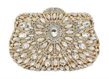 Mode Luxus Abendtasche Diamant Frauen Party Geldbörse Schöne Damen Prom Gold Fest Handtasche Silber Hochzeitsbankett Tasche 88156