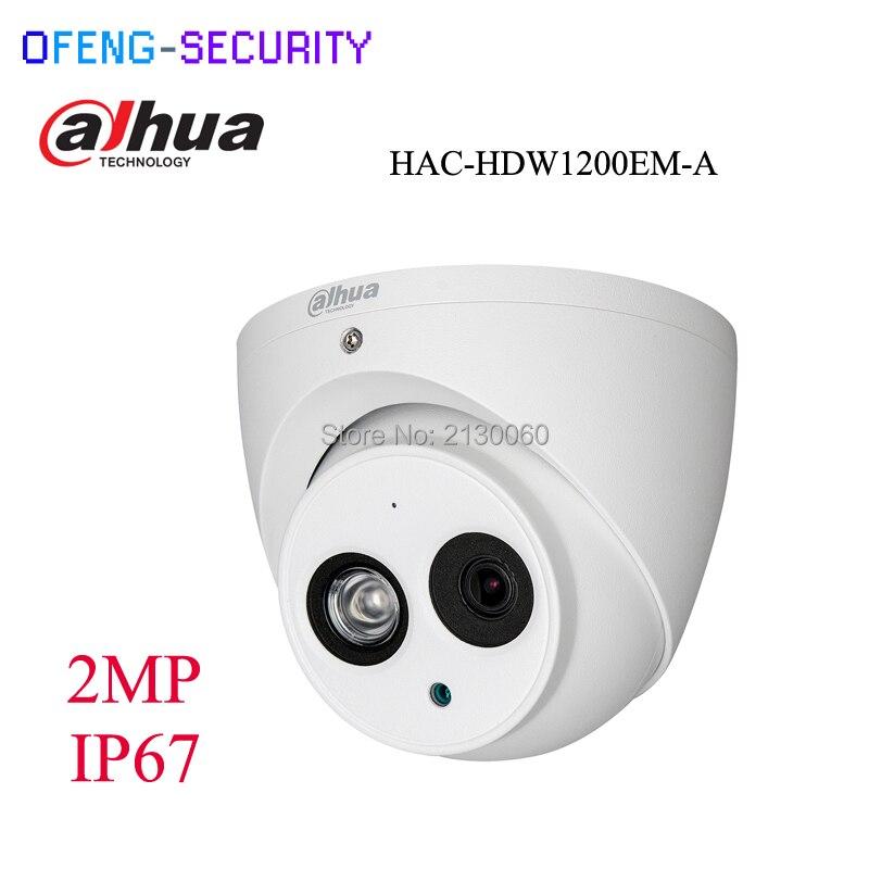 DAHUA HAC-HDW1200EM-A HDCVI 2MP DOME Camera built in mic CMOS 1080P IR 50M IP66 metal case security camera CVI camera full hd security camera hac hfw1220r vf ire6 2mp ir bullet cvi camera 1080p night version cvi camera built in sd
