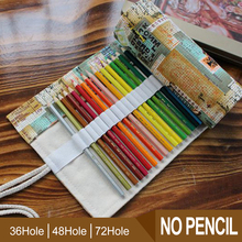 Pencil Case 36/48/72 Holes Portable Canvas Roll Up Flower Pencil Wrap Students Stationary Pouch For Painting School Supplies цена и фото