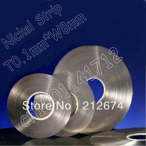 Image 1 - اتصال بطارية النيكل الشريط 0.1*7 ملليمتر بيور النيكل سمك 0.1 ملليمتر عرض الشريط تستخدم ل 18650 بطارية 7 ملليمتر النيكل حزام