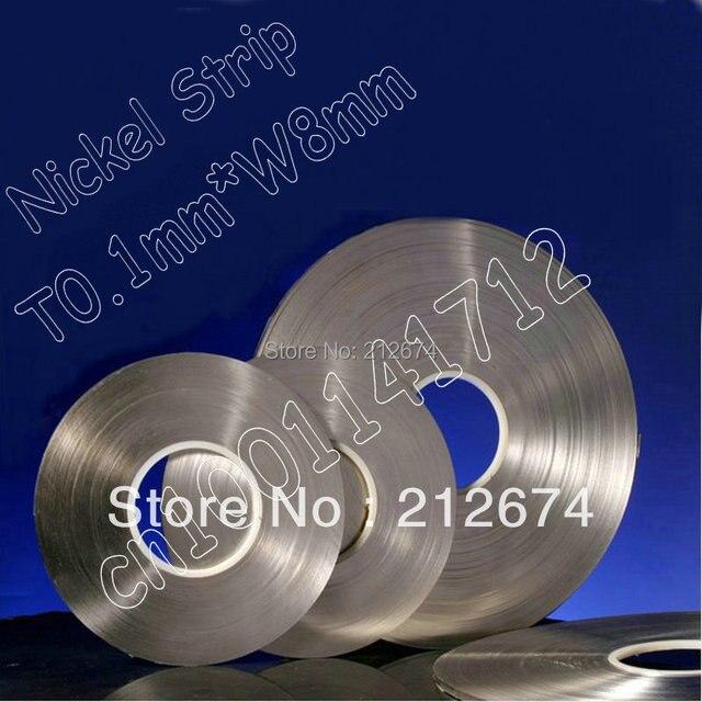 اتصال بطارية النيكل الشريط 0.1*7 ملليمتر بيور النيكل سمك 0.1 ملليمتر عرض الشريط تستخدم ل 18650 بطارية 7 ملليمتر النيكل حزام