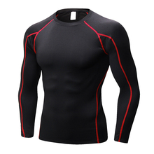 YD European Size Men Compression Tight Skin  Long Sleeve Shirt Fitness Clothes 3D Prints Bodybuilding Base Tops