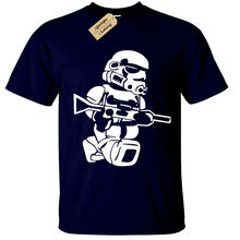 LEGO TROOPER Mens T-Shirt BIG PRINT storm wars jedi vader star yoda funny top Free shipping  Unique Cotton   O-Neck T Shirt цены
