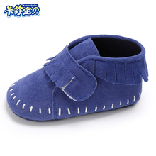 Newborn Baby Girl Boy Kids Fringe First Walkers Shoes Toddler Soft Soled Anti-slip Infants Crib Shoes 0-18 months