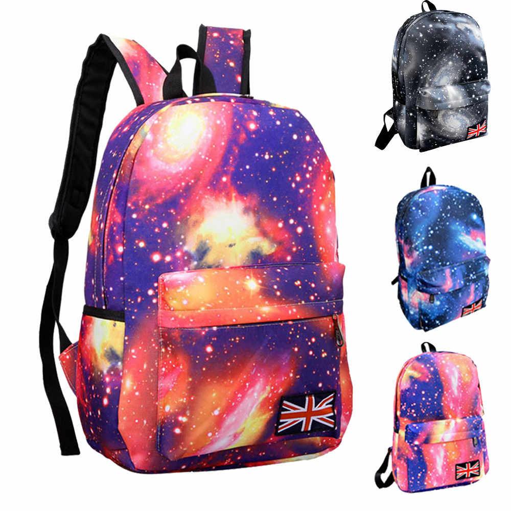 Transer Galaxy Padrão Unisex Viagem Mochila de Lona Lazer Sacos de Viagem Saco de Escola Mochila Grande Capacidade # YL1